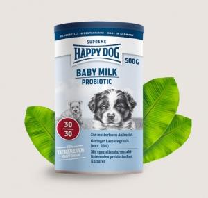 Happy Dog Baby Milk Probiotic - бебешко мляко за кучета с пробиотична добавка, стабилизираща чревната микрофлора, 500 грама