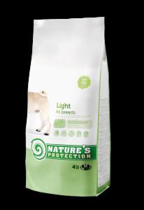Nature's Protection Light -диетична суха храна за кучета, 12 кг.