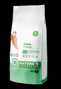 Nature's Protection Active - суха храна за активни, зрели кучета, 12 кг.