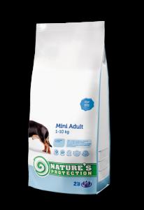 Nature's Protection Mini Adult - суха храна за кучета, мини породи в зряла възраст, 7.500 кг.
