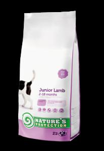 Nature's Protection Junior Lamb - суха храна за кучета от 2 до 8 месеца, с агнешко месо, 7.5 кг.