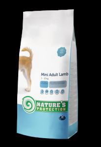 Nature's Protection Mini Adult Lamb - суха храна за кучета от дребните породи с агнешко месо, 7.5 кг.