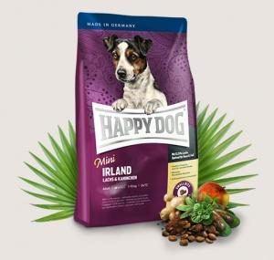 Happy Dog Supreme Mini Irland - суха храна със сьомга, заешко и билки, за кучета над 12 месеца, мини и малки породи до 10 кг., 4 кг.