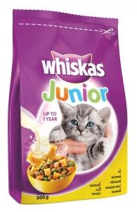 Whiskas Junior Chicken - храна за котенца до 1 година с пилешко 0.300 г