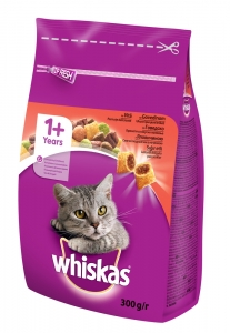 Whiskas Beef - с говеждо месо за котки над 1 година 0.300 г