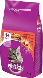 Whiskas Beef - храна за котки над 1 годин с говеждо 1.4 кг