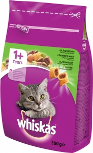 Whiskas Lamb - с агнешко месо за котки над 1 година 0.300 г