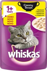 Whiskas Pouch Creamy Soups - крем супа с пилешко за котки над 1 година