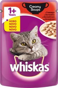 Whiskas Pouch Creamy Soups Beef - крем супа с говеждо за котки над 1 година