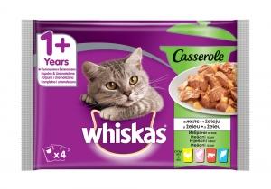 Whiskas Pouch Casserole Mix - пауч за котки над 1 година избрани ястия 85 гр