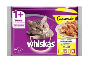 Whiskas Pouch Casserole - пауч за котки над 1 година с птичи ястия 4x 85 гр