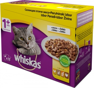 Whiskas Pouch - селекция птиче месо за котки над 1 година 12 x 100 гр