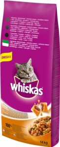Whiskas Dry Lamb - суха храна с агнешко за котки над 1 година, 14 кг