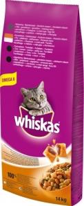 Whiskas Dry Chicken - суха храна за котки над 1 година с пилешко, 14 кг