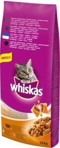 Whiskas Dry Tuna - суха храна за котки над 1 година с риба тон, 14 кг