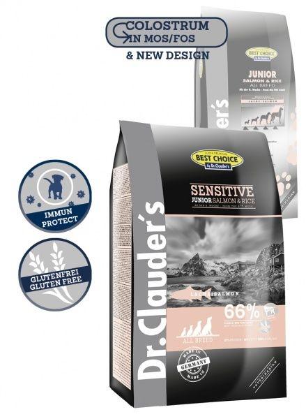 Dr. Clauder SENSITIVE Junior Salmon-Rise - суха храна за малки и подрастващи кучета