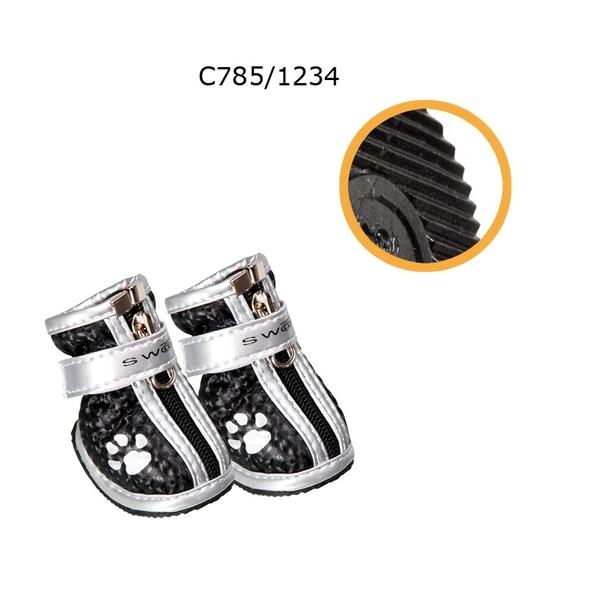 Camon - Обувки за куче Сребристо-черни