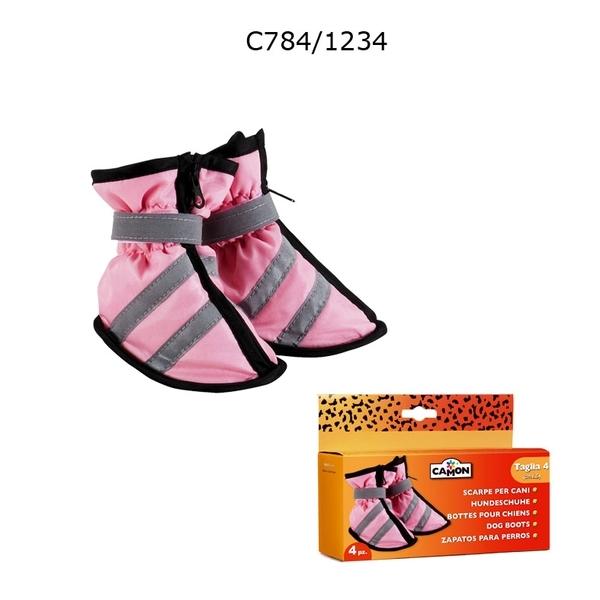 Camon - Обувки за куче 4/5 см, 5/5 см Розови