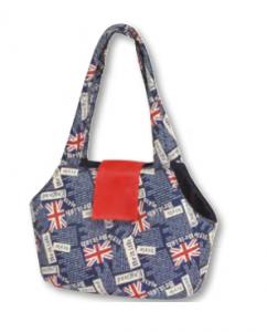 Camon British - транспортна чанта от плат Синя 42 / 22 / 28 см