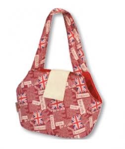 Camon British - транспортна чанта от плат Червена 42 / 22 / 28 см