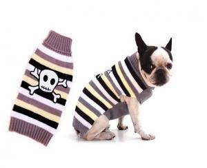 Freedog Jersey Crossbones - дрешка за кучета с апликация сив череп