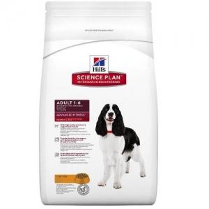 Hill's Science Plan Adult Advanced Fitness Medium с пилешко – За кучета от средни породи с умерени енергийни нужди, 1-7 години /с пилешко/ 12 кг 1