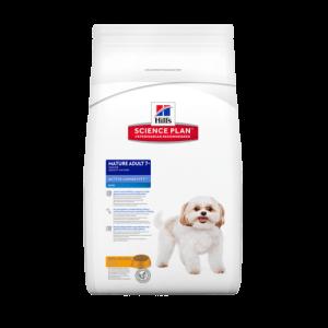 Hill's Science Plan Canine Mature Adult Active Longevity Mini Chicken – Пълноценна суха храна за кучета от дребни породи на възраст над 7 години /с пилешко/. 7.5 кг 1