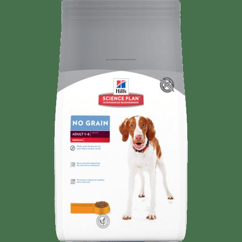 Hill's Science Plan Canine Adult NO GRAIN – Пълноценна суха храна за кучета над 1 година, без зърнени култури. 12 кг 1