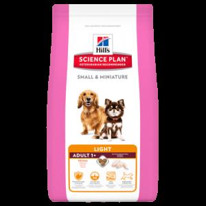 Hill's Science Plan Canine Adult Small&Miniature Light Chicken&Turkey – Пълноценна суха храна за кучета от дребни и миниатюрни породи на възраст от 1 до 6 години, склонни към наднормено тегло /с пилешко и пуешко/. 1