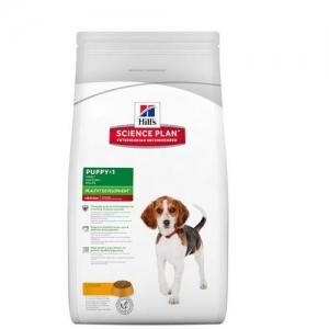 Hill's Science Plan Puppy Medium с пилешко – Пълноценна суха храна за средни породи кучета от отбиване до 1 година. За бременни и кърмещи кучета /с пилешко/. - 12 кг 1