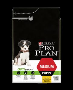 Pro Plan Optistart Puppy Medium Chicken - суха храна с пилешко месо, за кученца, средни породи /10 - 25 кг./ и възраст до 12 месеца 12 кг. 1