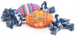 Camon Латексова играчка за кучета - винилови топки с въже