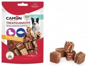 Camon Лакомство за кучета - меки хапки във формата на кубчета с патешко месо и риба