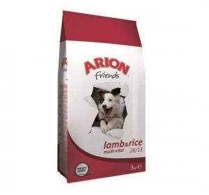 Arion Dog Friends Multi-Vital 28/13 Lamb&Rice - Суха храна за активни кучета от всички породи, 15 кг.