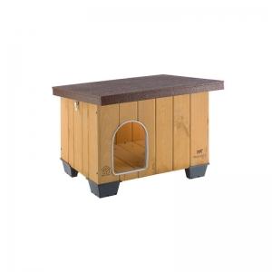 Ferplast Baita 60 - дървена къща за куче, 73,5 / 59 / 52,5 cm 1