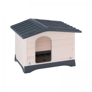 Ferplast Lodge - дворна къщичка, изработена от дърво и термопластична смола 83 / 59 / 54.5 см. 1