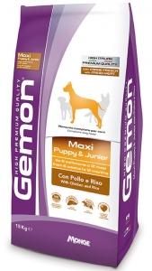 Gemon Medium &Maxi Junior Chicken - Суха храна с пиле и ориз за подрастващи кучета средни / 10 - 25 kg. / и големи породи / над 25 кг. /, 15 кг.