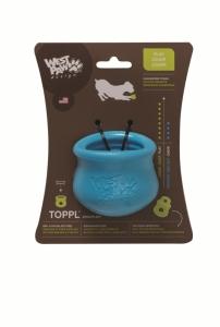 Zogoflex Toppi S - интерактивна играчка с възможност за поставяне на разнообразни по вид и консистенция лакомства 8 см. / синя, зелена, оранжева / 1