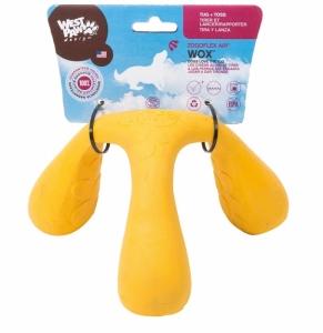 Zogoflex Wox L - трикрака играчка с меко ядро от пяна, за кучета които обичат да дърпата и гонят 10 см. / синя, червена, жълта / 1