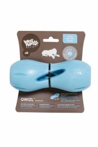 Zogoflex Qwizl S - играчка с възможност за поставяне на лакомства, която стимулира мисленето и удовлетворява вкуса на подрастващите 14 см. / синя, зелена, оранжева / 1
