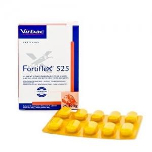 Virbac Fortiflex 525 - хранителна добавка за поддържане двигателната активност на кучета с тегло над 25 кг.