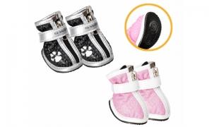 Camon Suola Flex S- луксозни кучешки ботушки 4 броя, / черни, розови /