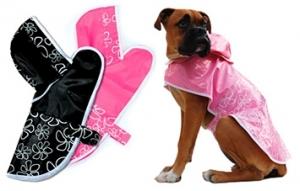 Freedog Impermeable Rainflower Negro- дъждобран за кучета, цвят черен
