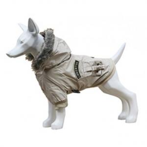 Freedog Gabardina Cheertul BEIG- дрешка за кучета, яке с качулка, цвят бежов