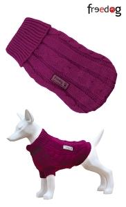 Freedog Nature Fuscia - пуловер за кучета, Ярко цикламено