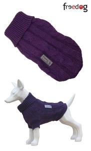 Freedog Nature Mora - пуловер за кучета, тъмно лилава-къпина