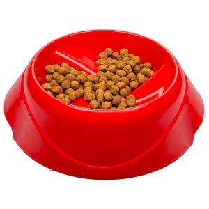 Ferplast Magnus Slow Medium - купичка за хранене на лакоми кучета- 25 / 24 / 12 см., 1000 мл., червена 1