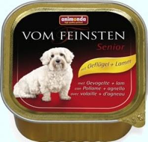 Animonda Vom Feinsten Senior with Beef Lamb - пастет за кучета над 7 години, с говеждо и агнешко месо, 150 гр.