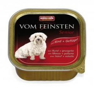 Animonda Vom Feinsten Senior with Beef Poultry - пастет за кучета над 7 години, с говеждо и пилешко месо, 150 гр.