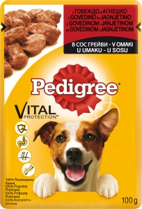 Pedigree Pouch Beef Lamb - пауч с говеждо и агнешко